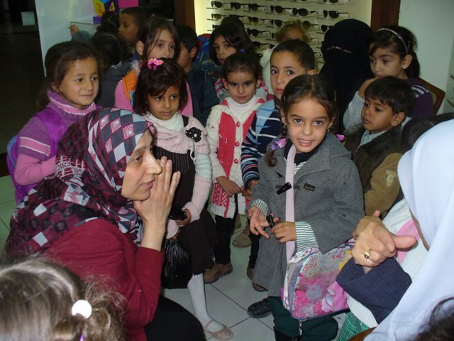 Children from Baqa'a Camp Visit Dentist and Eye Clinic